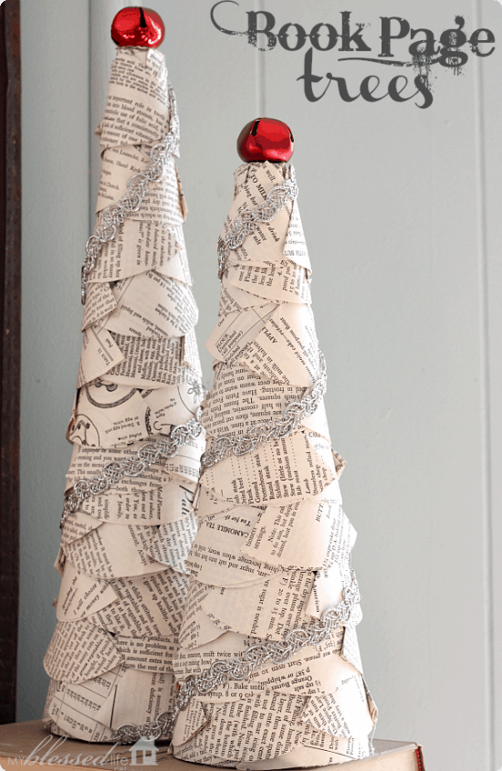A beautiful collection of 20 Handmade Christmas Trees - Such cute and easy Christmas decor!! { lilluna.com }