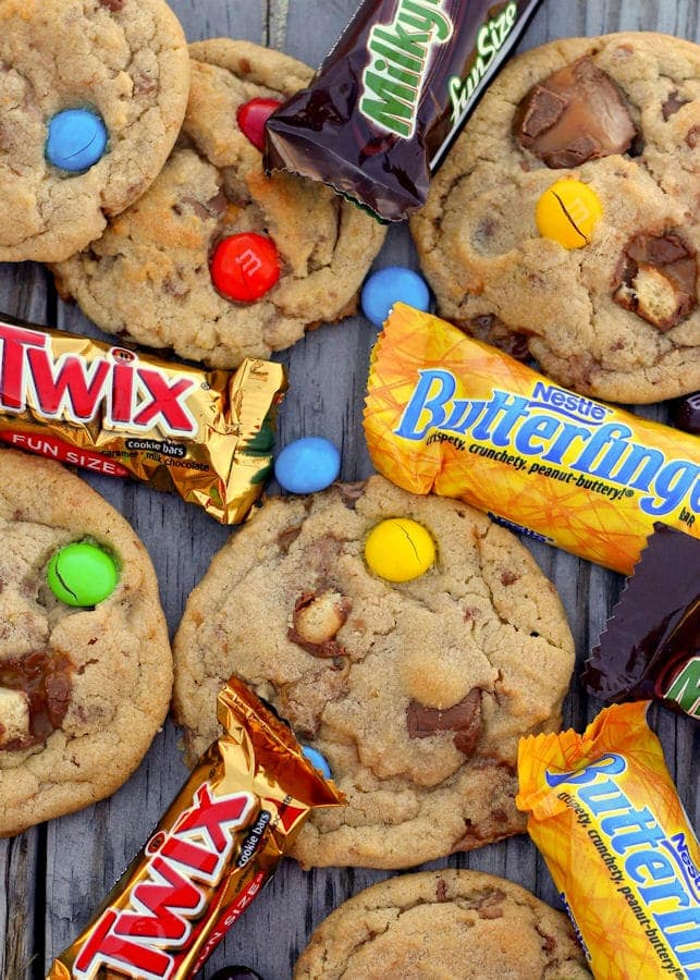 Candylicious Junkyard Cookies - a great way to use some of that leftover Halloween Candy!