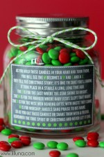 Christmas M&M Poem and Gift Idea on { lilluna.com } #gift