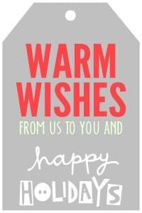 Christmas - WarmWishesTagsGray