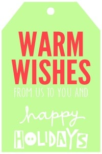 Christmas - WarmWishesTagsGreen