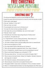 Free Christmas Trivia Game