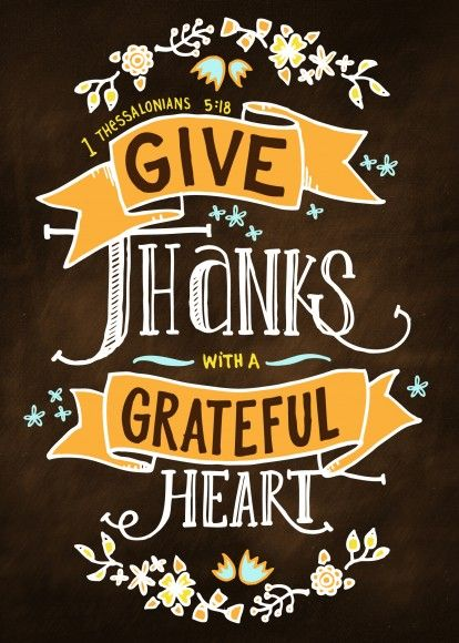 Give Thanks with A Grateful Heart Print. Makes for cute decor or stick in a frame and give as a gift!