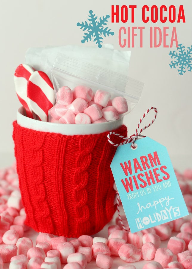Hot Cocoa Gift idea with free tags! An inexpensive and cute gift!