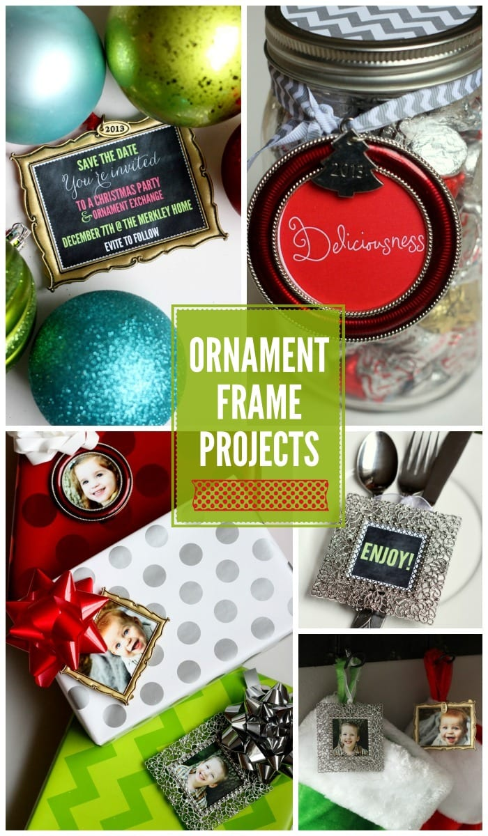 Ornament Frame Gift Ideas on { lilluna.com } Great and easy ideas to use in so many ways!