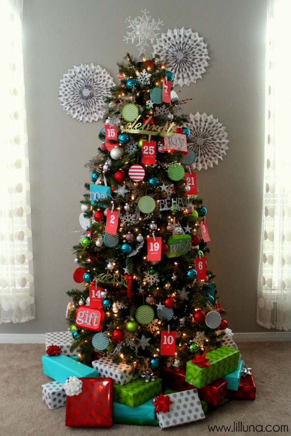 Real-Life Advent Christmas Tree