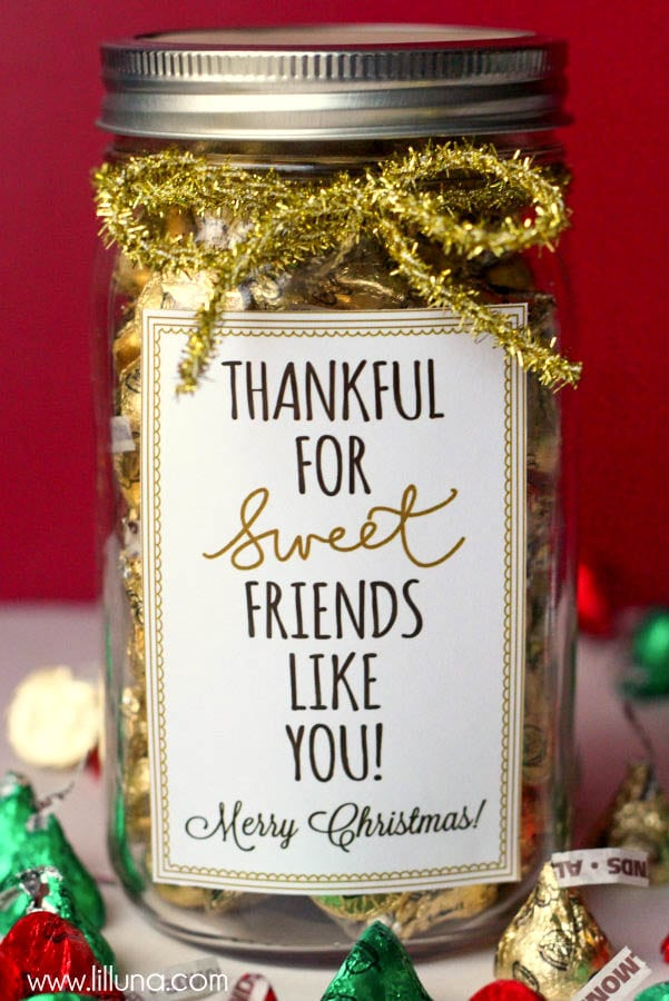 thankful for sweet friends like you christmas gift idea cute simple inexpensive