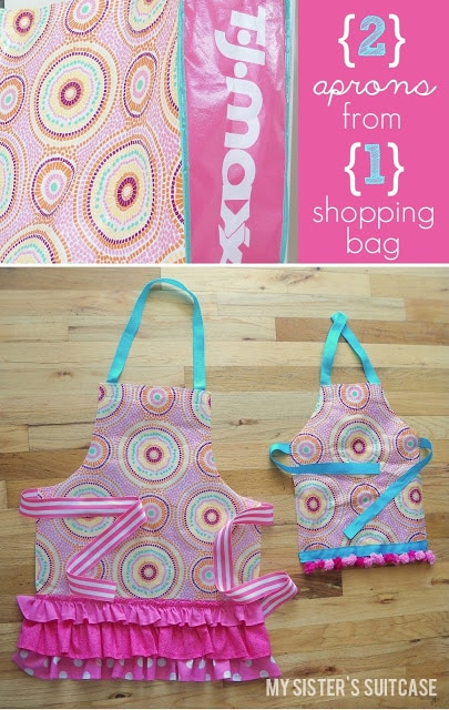 aprons from shopping bag
