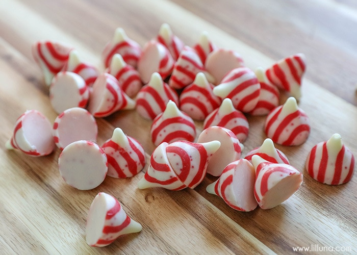Peppermint Crunch Fudge Recipe - one of the easiest and most delicious winter treats. If you love fudge, you'll love this recipe! Ingredients include white chocolate chips, marshmallow fluff, candy cane kisses, & Andes peppermint baking chips!