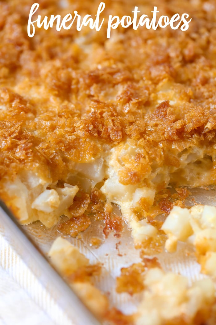 Funeral Potatoes in Dish