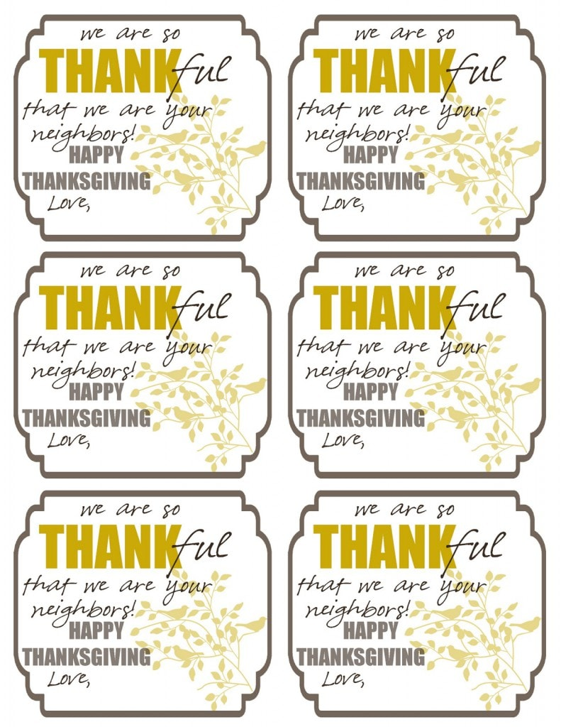 Versatile image throughout thankful printable