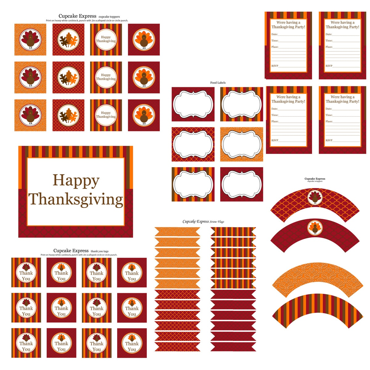 30+ FREE Thanksgiving Printables on { lilluna.com } Use for so many different things!!