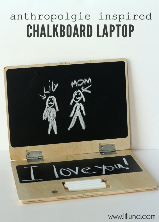 How to make this Anthropolgie Knock-off Chalkboard Laptop on { lilluna.com } This will entertain your kids for hours!