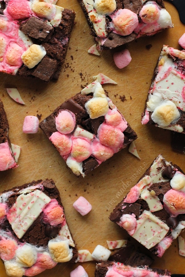 Chocolate Peppermint Smores Bars