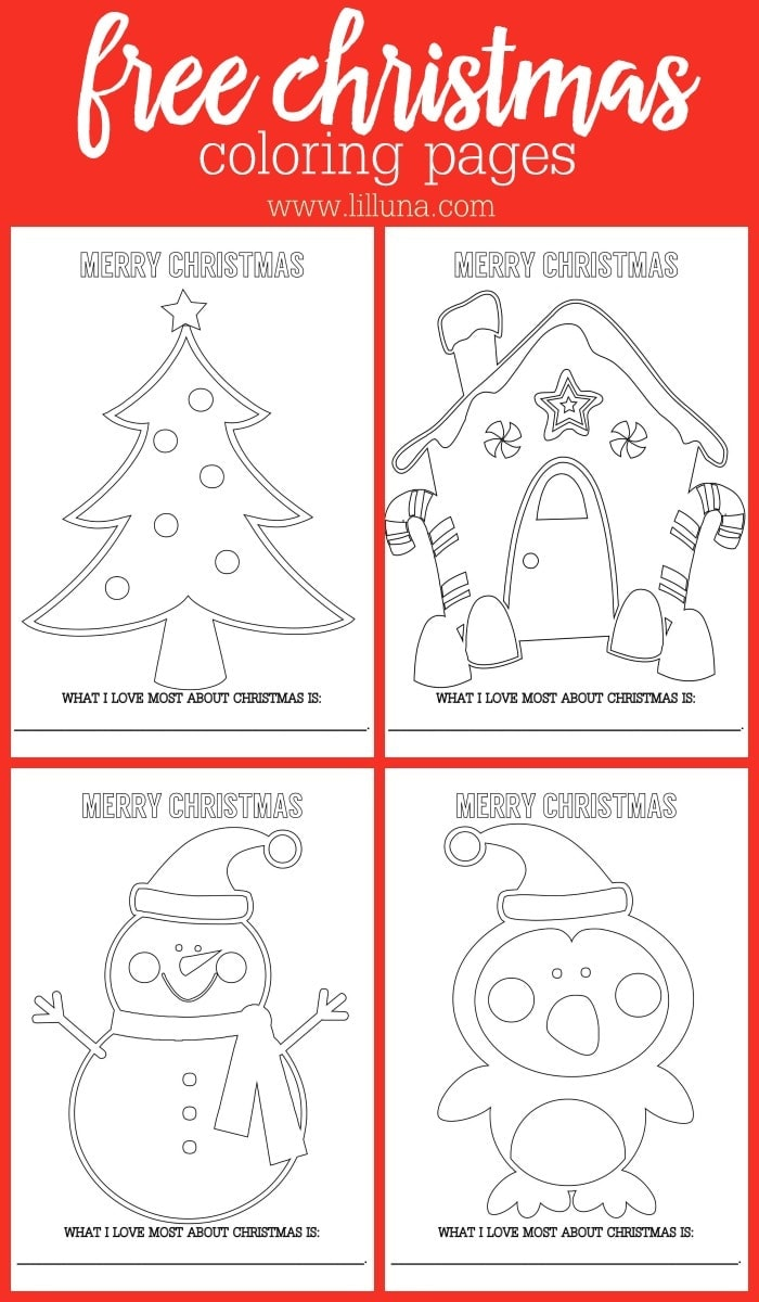 - FREE Christmas Coloring Sheets Lil' Luna