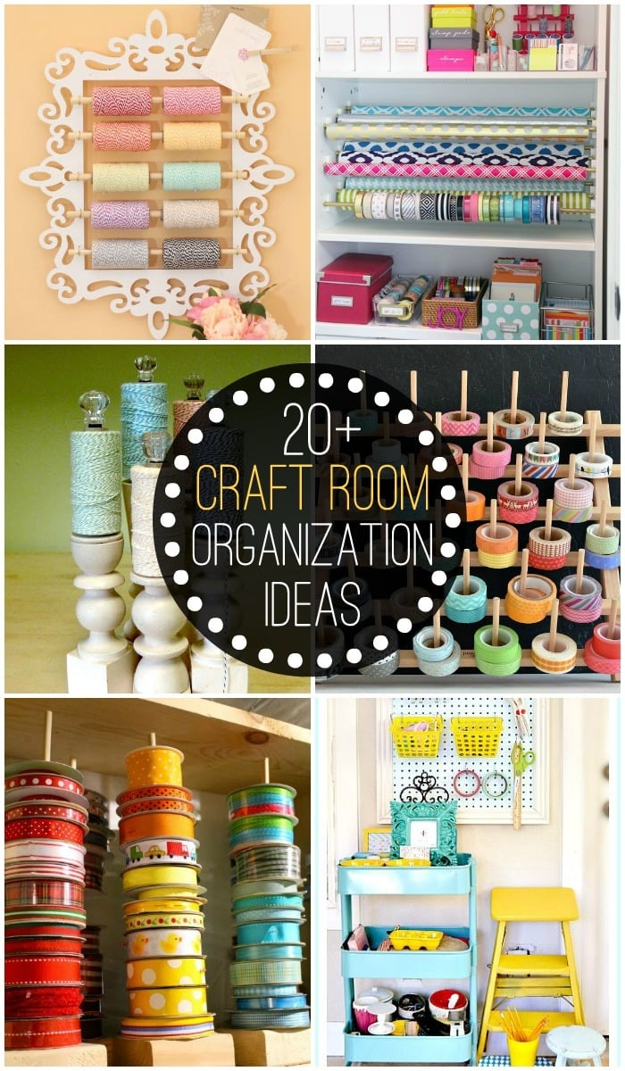 20 craft room organization ideas for Room decor organization