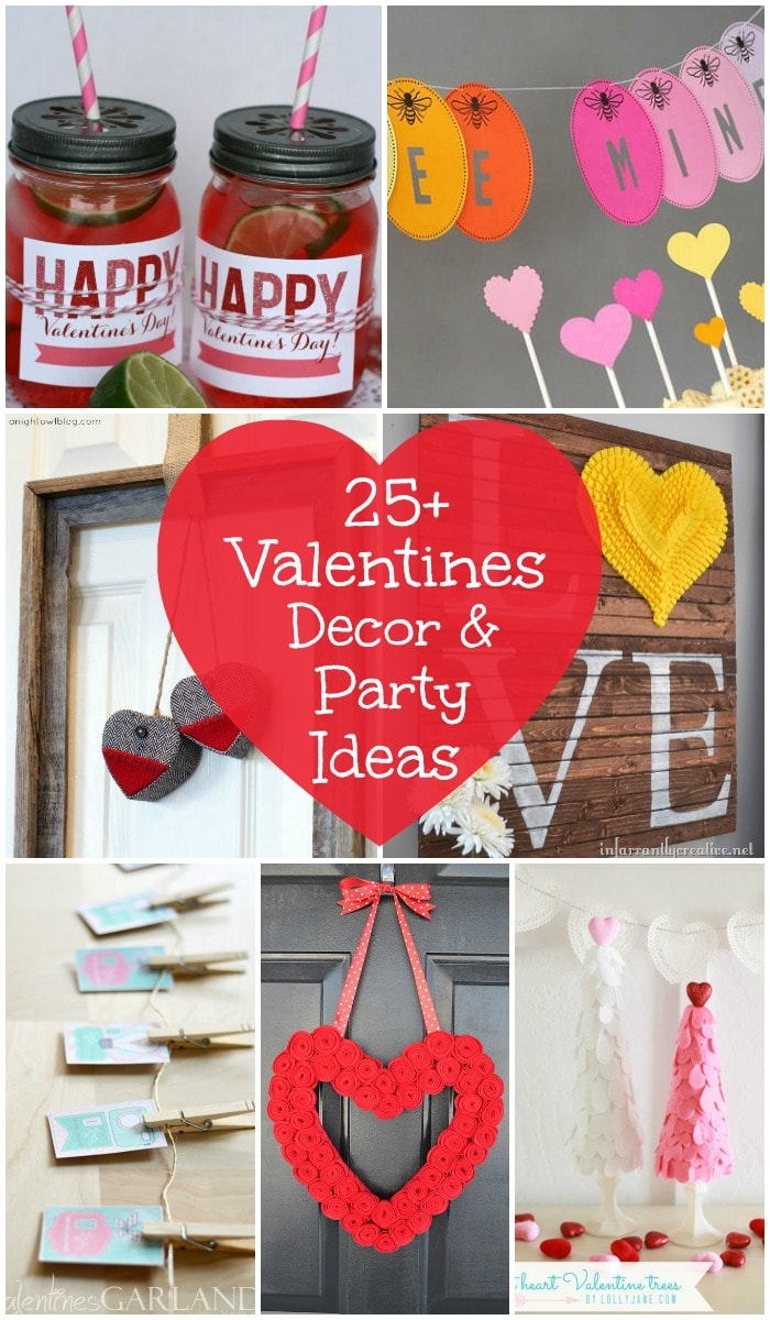 An awesome collection of easy 25+ Valentines Decor & Party Ideas on { lilluna.com } !!