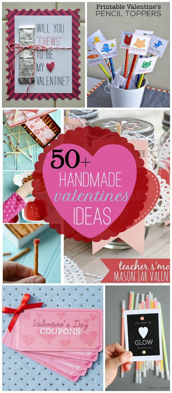 50+ Handmade Valentines Ideas on { lilluna.com } So many cute and easy ideas!