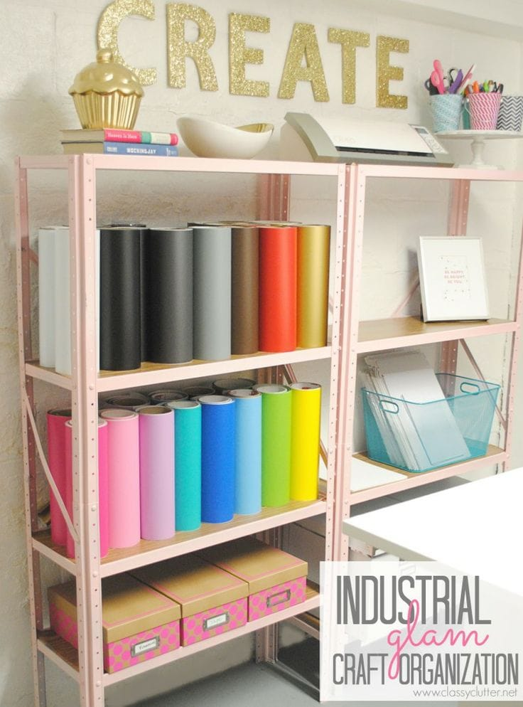 Inexpensive Craft Room Organization 736 x 994