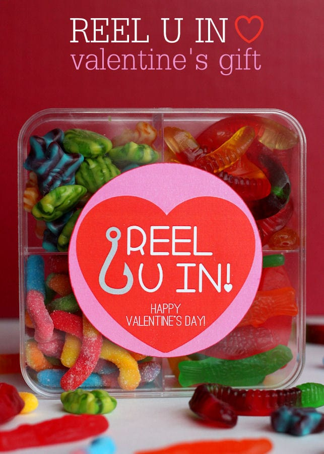 Adorable Reel U In Valentines Gift Idea with free print on { lilluna.com } #valentines