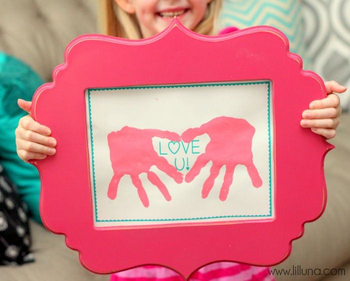 CUTE Love U Hand Print Gift Idea