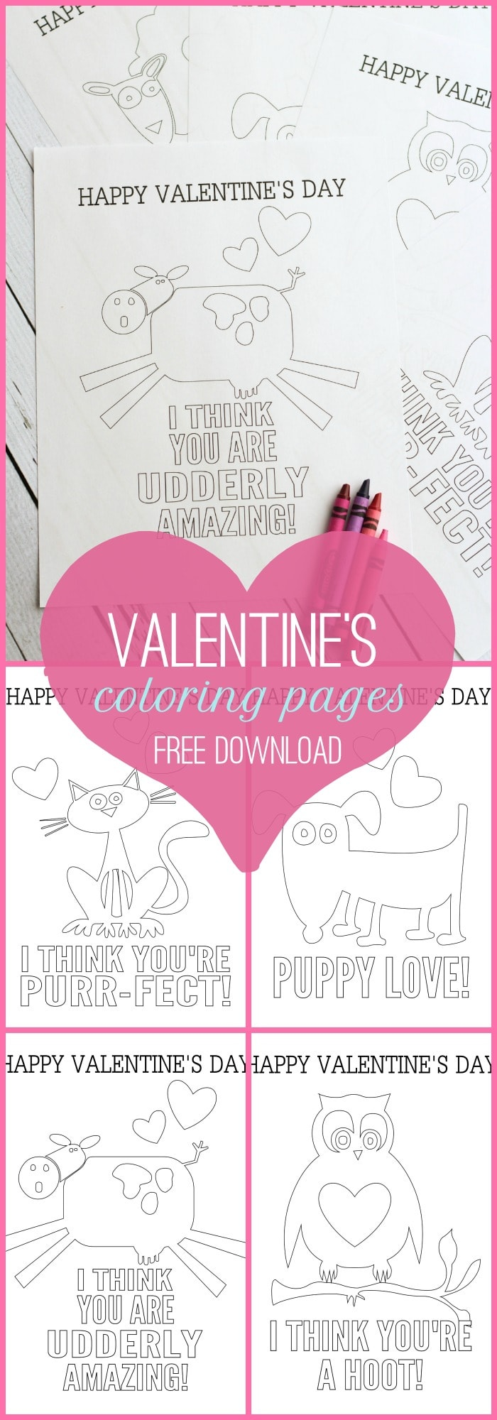 FREE Valentine's Day Coloring Pages on { lilluna.com } The kids will love coloring these cute pages!