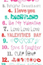 Favorite Free Valentine's Fonts and Graphics to download and use { lilluna