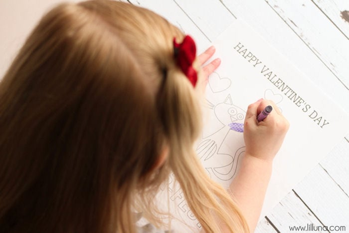 FREE Valentine's Day Coloring Pages on { lilluna.com } Fun prints the kids will love to color!!