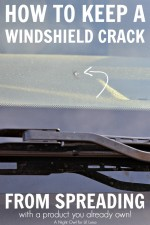 How to keep a windshield crack from spreading