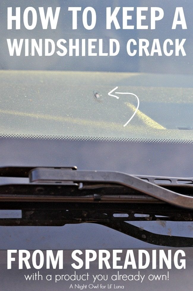 How to keep a windshield crack from spreading! Brilliant! Great tips!