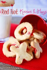 Red Hot Kisses and Hugs Cookies
