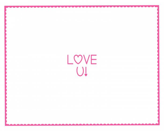 Valentine's Hand Print - LOVE YOU - Pink