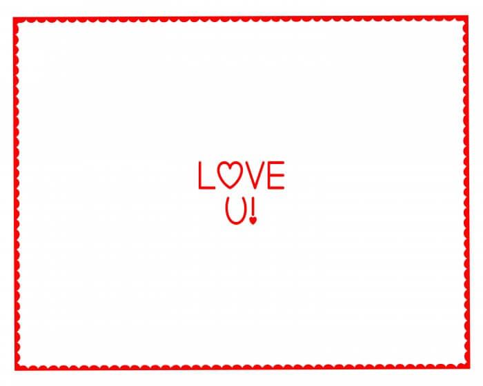 Love U Hand Prints Gift