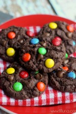 Chocolate Chip M&M Cake Cookies