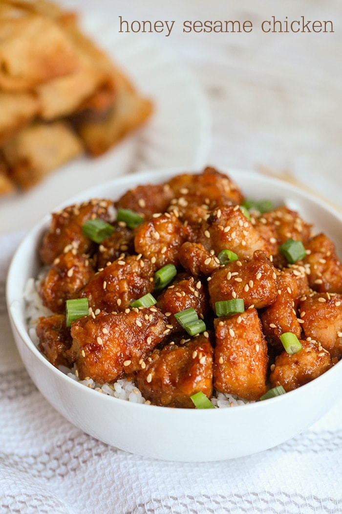 Honey Sesame Chicken - this is one of our favorite dinner recipes!! It's easy, delicious and one everybody enjoys.