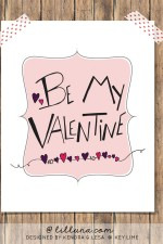 FREE Be My Valentine Printable