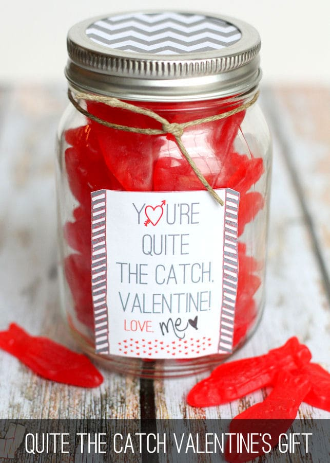 What a Catch Valentine Gift on { lilluna.com } Easy, inexpensive, and your Valentine will love it!