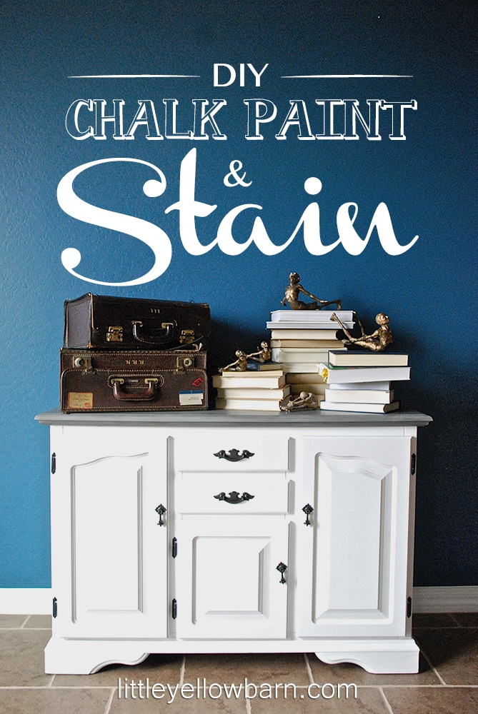 DIY Chalk Paint and Stain Tutorial on { lilluna.com } Learn how to make your own chalk paint to save money and get a great look!