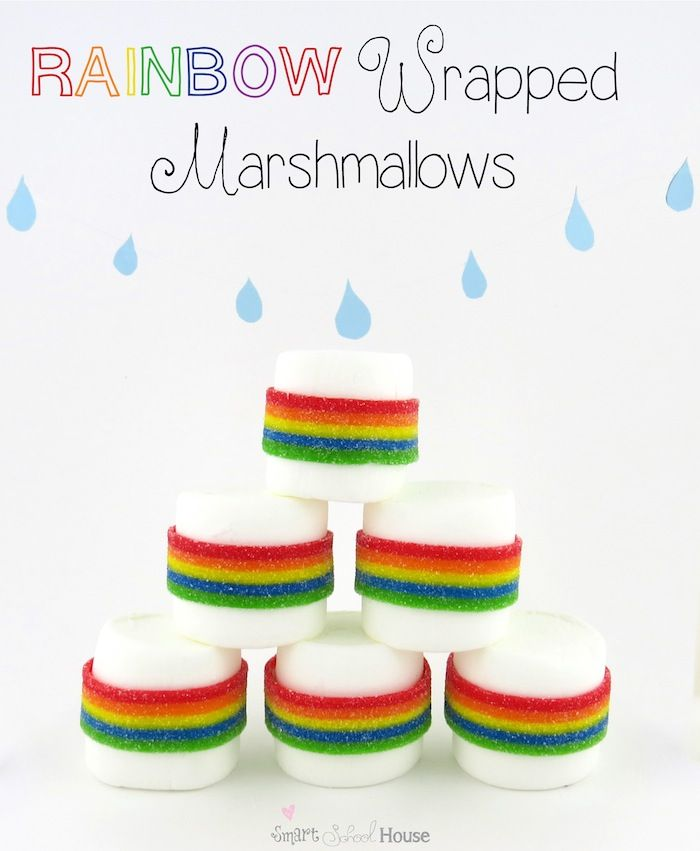 50+ Rainbow Treats perfect for St. Patrick's Day!! { lilluna.com } Colorful & yummy treats including, cake, fudge, pretzels, kabobs, & waffles.