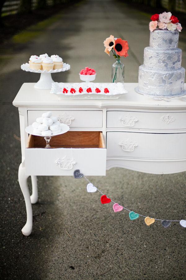 Beautiful Valentine's Dessert Table Display