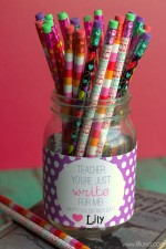 Valentines Teacher Gift – Just Write for Me