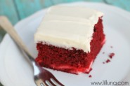 Red Velvet Cheesecake Cake recipe on { lilluna.com }