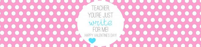 Valentine's - Teacher Gift - Write on - PINK
