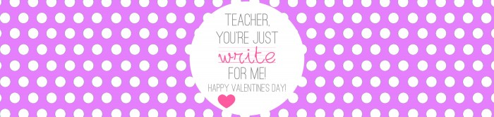 Valentine's - Teacher Gift - Write on - PURPLE