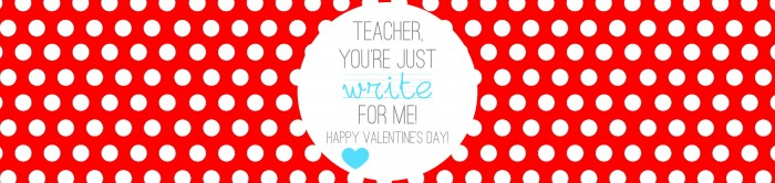 Valentine's - Teacher Gift - Write on - RED