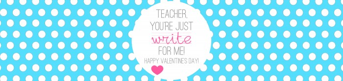 Valentine's - Teacher Gift - Write on - TURQUOISE