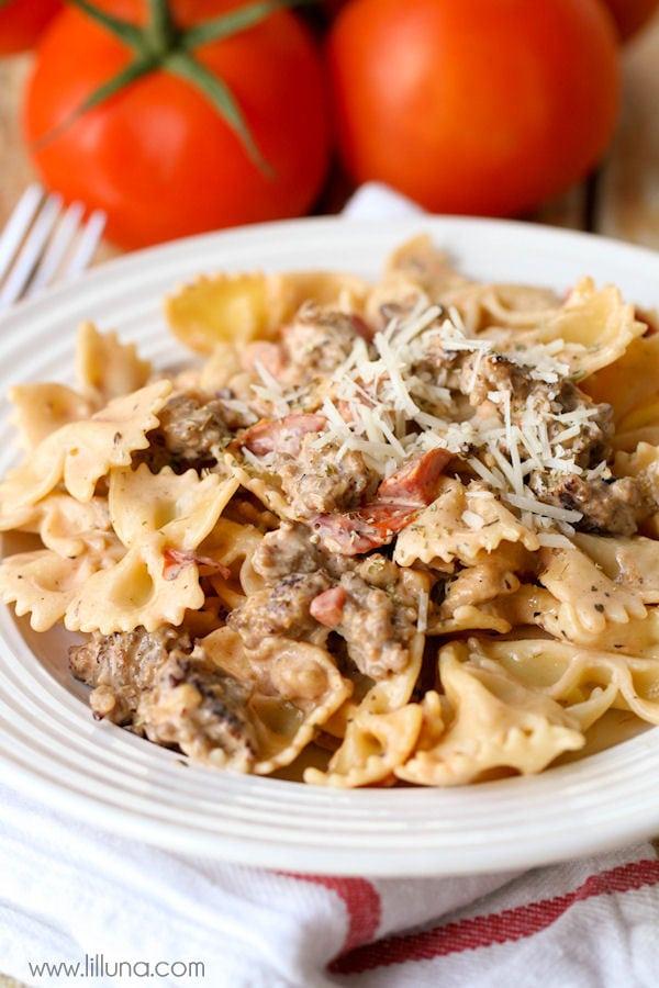 bowtie-pasta-with-italian-sausage-4
