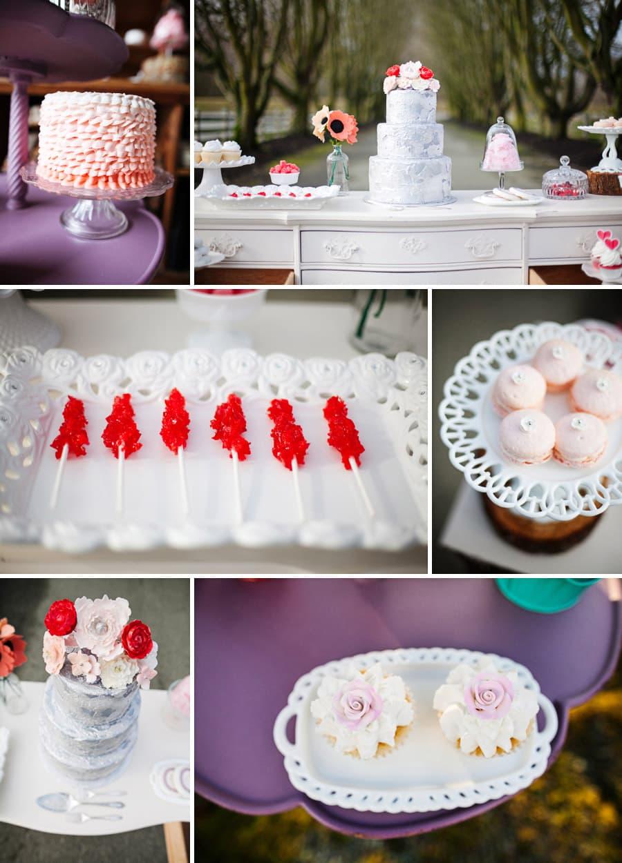 Valentine's Dessert Table Display