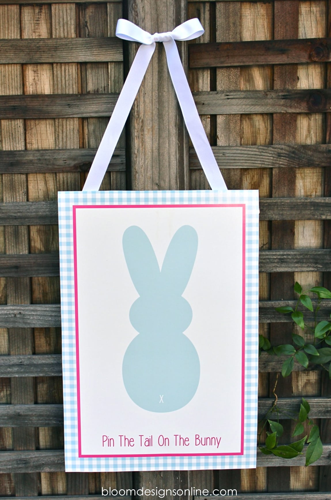 DIY Pin the Tail on the Bunny Easter Game • Room Mom Rescue