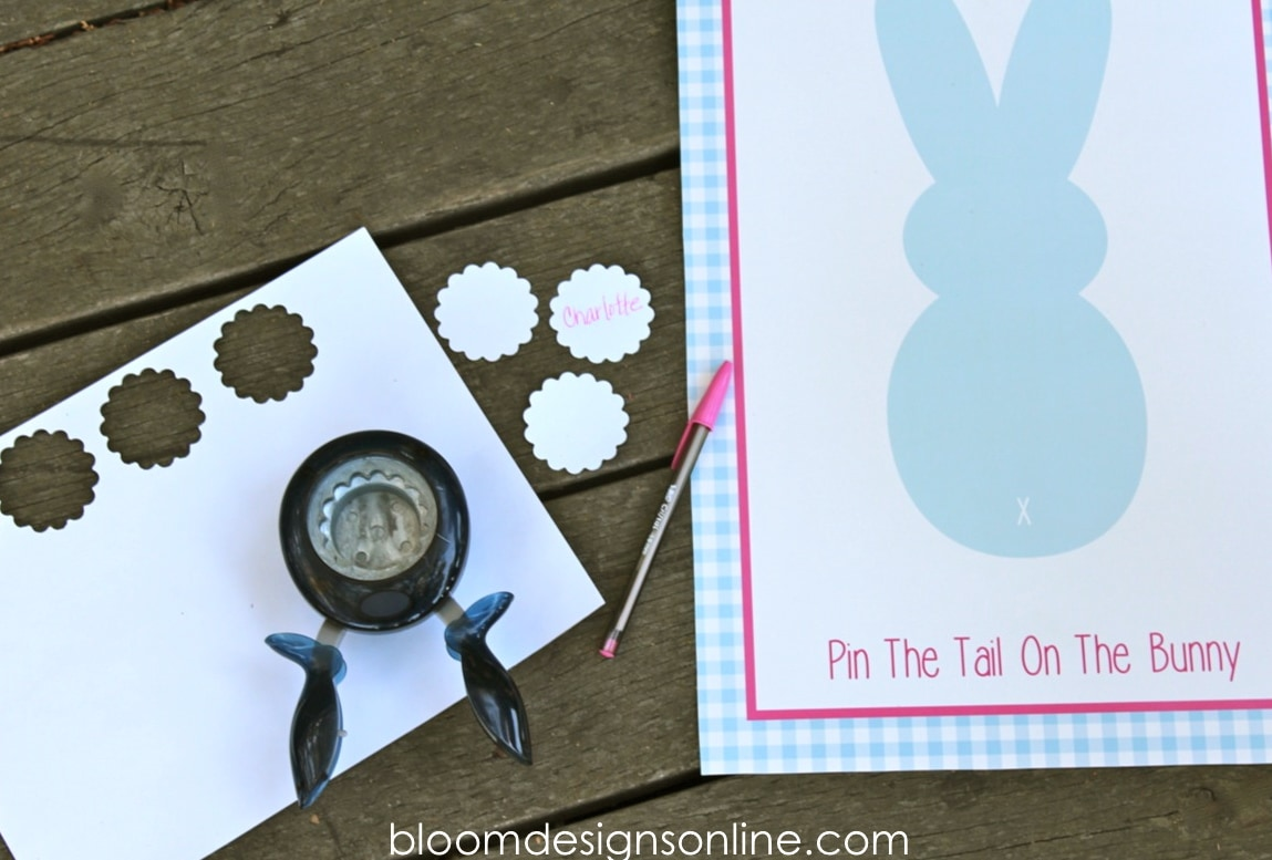 Super cute Pin The Tail On The Bunny game - free print on { lilluna.com }